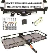 2002-2007 BUICK RENDEZVOUS TRAILER HITCH + CARGO BASKET CARRIER + SILENT PIN TOW