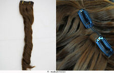 """Recurlable Human Hair Mix Blend CLIP ON IN Extensions 7 pc - Romance Curl 22"""""""