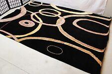 R1654 Black Color Modern Mixed Fibers Tibetan Area Rug 6' x 9' Handmade in Nepal