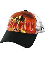 Iron Man New Era Trucker SnapBack Adjustable Hat Cap Marvel Comics The Avengers