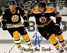 Milan Lucic Boston Bruins signed 8x10 w/ Cam Neely