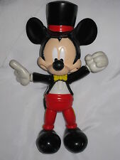 VINTAGE DISNEY MICKEY MOUSE Magician Twistable Collectors Toy w/ Tuxedo Top Hat