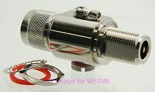 Radio WiFi Coax Gas Tube Lightning Arrestor Arrester Surge NM/NF 3 GHz - W5SWL