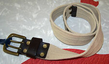 Women's KHAKI Web Belt w/ Goldtone Buckle - FADED GLORY - Size Large - NWT!
