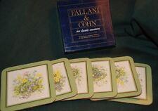 FALLANI & COHN COASTERS: #450 BOTANICAL  (6 pc set)