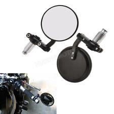 """Motorcycle 7/8"""" Handle Bar End Rearview Mirrors For Kawasaki Suzuki Honda Yamaha"""