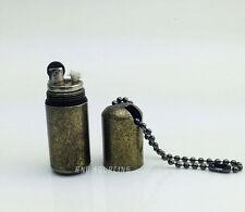 New Metal Handy Mini Flint wheel Kerosene Pipe Cigarette Lighter with Keychain