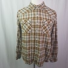 Levi's Men's Soft Cotton Green Plaid Pearl Snap Button Down Shirt Top Size XL