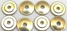 Large Brass Insignia Screw Back Nut 5/8 in 16 mm dia x 40 threads Lot of 8