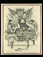 1955 Duncan MacPherson John McLaughlins Court No Women Allowed Print Art 258A