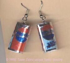 Funky PEPSI COLA CAN EARRINGS Novelty Mini Soda Pop Food Charm Costume Jewelry