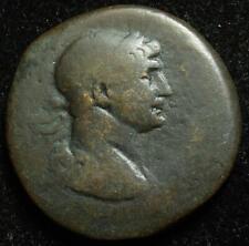 Trajan AE28 Antioch, Syria, r. large S C in wreath, 98-117AD