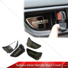 For Subaru Impreza WRX STI XV Inside Door Bowl Cover Trim Black Chrome 12-18