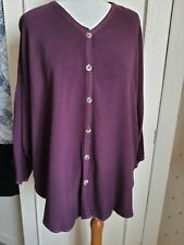 Vtg Hampstead Bazaar Oversize Buttoned Front Sleeved Top - one size
