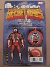 Secret Wars #5 Marvel Comics Action Figure Variant Falcon 9.6 Near Mint+