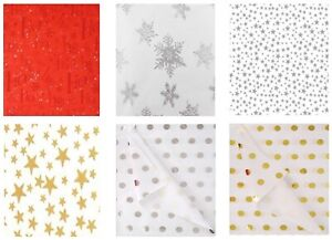 CHRISTMAS XMAS PATTERNED PRINT TISSUE GIFT WRAPPING PAPER LUXURY SHEETS 35x45 cm