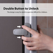 2 Pcs Baby Fridge Refrigerator Door Latch Safety Child Lock Strong Self-Adhesive