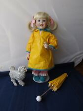 "Hamilton Collection Porcelain Doll ""Rainy Day Pals"" by Donald Zolan"