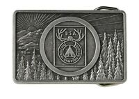 BOY SCOUT NATIONAL CAMPING SCHOOL BELT BUCKLE SUNRISE TREES TEE-PEE OFFICIAL BSA