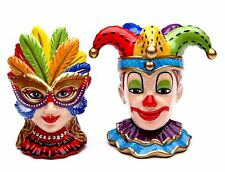 Mask Clown Ans Girl  Salt & Pepper Shaker