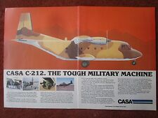 7/1982 PUB AVION CASA MADRID SPAIN C-212 STOL MILITARY AIRCRAFT ORIGINAL AD
