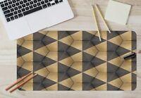 3D Black Triangle 3 Textur Rutschfest Büro Schreibtisch Mauspad Tastatur Spiel