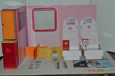 American Girl~Air Destination Set~Airplane Set Up~Seats~Doll Stand~Travel Book~G