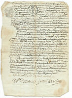 1822 justice testimony manuscript document signed with primitive signature offic
