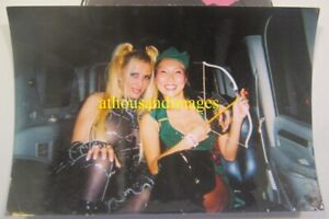 Photo Sexy Women In Halloween Costumes Cleavage Pigtails Asian Limozine AA111