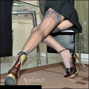 Gio Fully Fashioned Stockings - PEWTER - Imperfects - NYLONZ