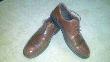 ECCO Men's Light Weight Dark Medium Brown Leather Oxford Shoes Size 43 9-9 1/2
