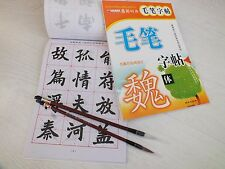 2 CHINESE WRITING CALLIGRAPHY PRACTICE EXERCISE BOOK W 4 BRUSH LEARNER SCHOOL