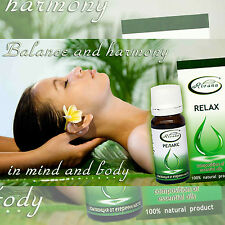 100% NATURAL Essential Oil RELAX - Composition of 100% Aromatherapy Pure Oil