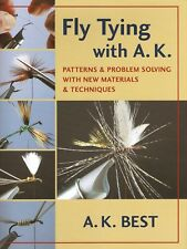 BEST A.K. AK FLYTYING FISHING BOOK FLY TYING WITH A.K. hardback BARGAIN new