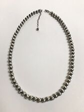 Native American Sterling Silver Navajo Handmade  Parol Silver Beads