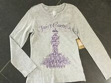 NWT Juicy Couture New & Gen. Grey Long Sleeved Cotton T-Shirt & Logo Girls Age 8