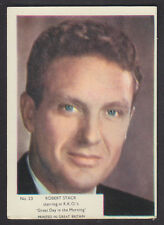 Kane Products - Film Stars (Plain Back) 1958 - # 23 Robert Stack