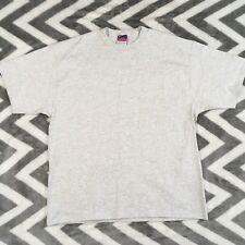 Vintage RARE Champion Blank T-shirt reverse weave Large L Gray Tee Shirt