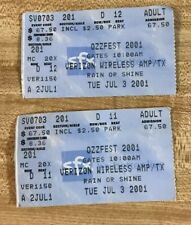 2001 Ozz Festival Ticket Stubs