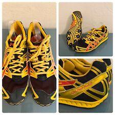 Asics Gel Dirt Dog 2 Mens Track Running Cleats Gold Black Yellow Metal Spikes 13