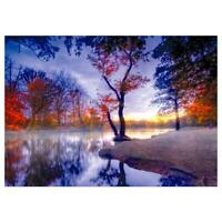 5D DIY Full Drill Diamond Painting Forest Lake Cross Stitch Embroidery Kits R1BO