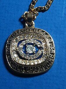 1985 Chicago Bears Super Bowl Championship Pendant Necklace Souvenir