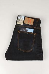 32485 Nudie Jeans Big Bengt Night Thunder Dunkelblau Herren Jeans Größe 30/34