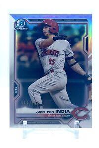 2021 Bowman Chrome Jonathan India - Prospect RC - Refractor - # /499