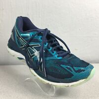 Asics Womens Gel Nimbus 19 T750N Blue Running Shoes Lace Up Low Top Size 9.5