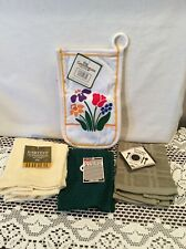 New Kitchen Basics and Other linens Dish Cloths Glove 5 pieces Cotton