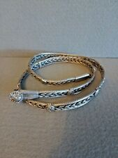 Vintage Silver Woven/Braided Chain Antique Belt Rajasthan India