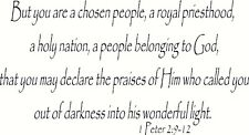 1 Peter 2:9-12 11 x 22 Bible Verse Vinyl Wall Decals by Scripture Wall Art