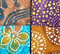 Batik Fat Quarter #B31 | Mask Fabric | Precut Quilting Cotton | Set of 4