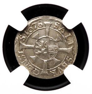 AUSTRIA, Salzburg. Silver Kreuzer, 1678, NGC MS62